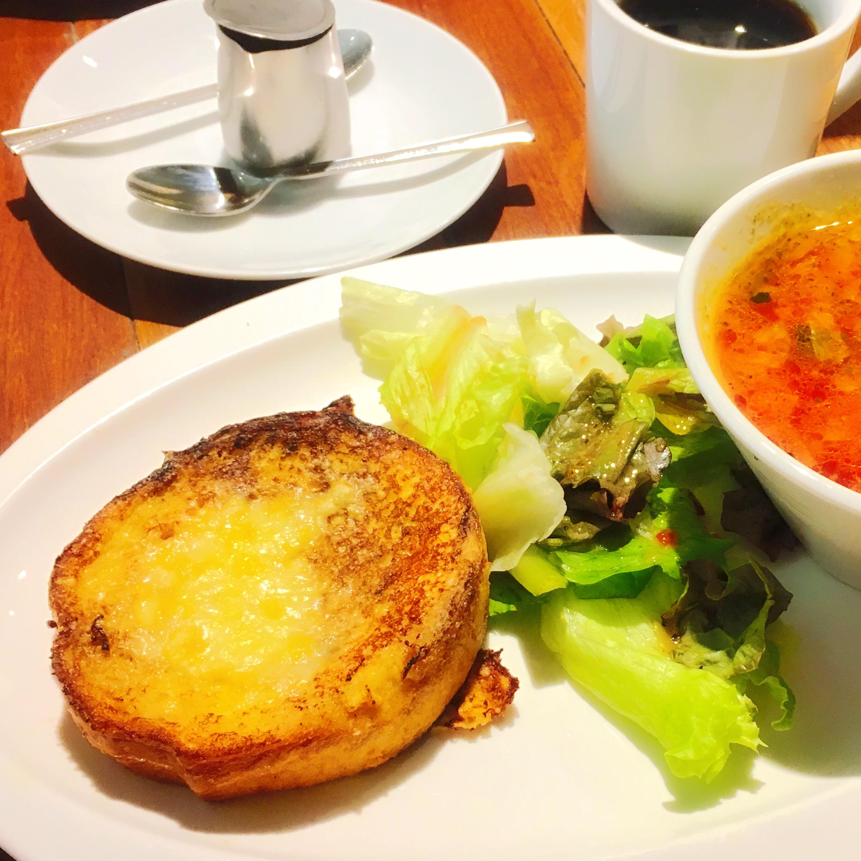 船橋珈琲焙煎所_フレンチトースト野菜スープ