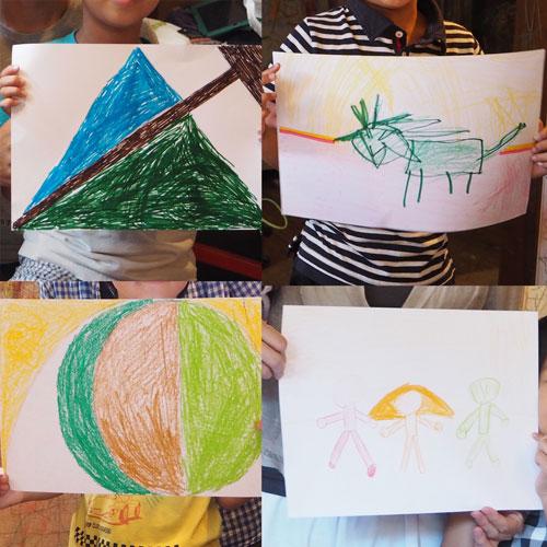 「家族旗を作ろう!」親子デザイン教室レポート