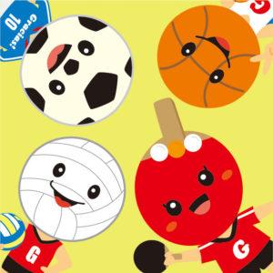 キャラクター サッカー バレー バスケ 卓球